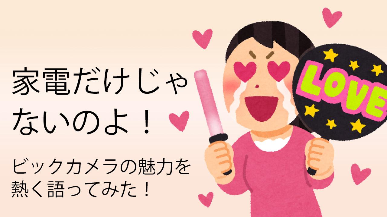 【家電以外】ビックカメラ好き女子によるおすすめ活用方法8選【大宮西口そごう店】